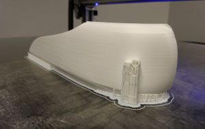 Caddie Dash Trim 3D printed on the 3DP Workbench