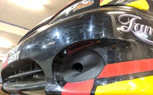 MTA Racecar air vent 3d printed in Onyx with Kevlar