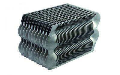 EOS metal sintered 3d printed automotive heat exchanger