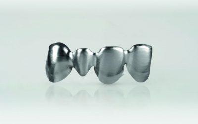 EOS metal sintered 3d printed dental teeth