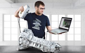Artec 3D scanners used on automotive gearbox casting