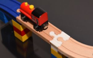 3D Printed Train Track to Duplo Converter Built